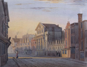 Old PAinting of King Street in Bristol