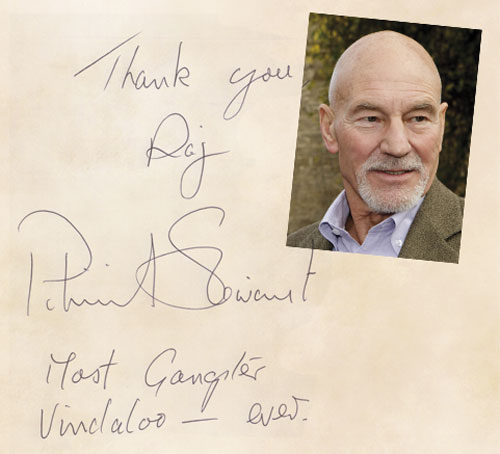 VIP review of the raj restaurant in Bristol by patrick Stewart