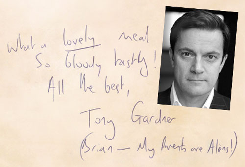 Tony Gardner - Actor and writer